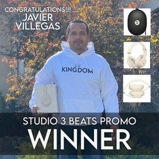 Congratulations to Javier Villegas for Winning the Studio 3 Beats Promo - Thank You for all the Support!!!